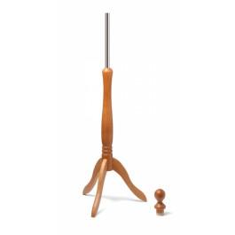 Standfuss / Holz - Dreibein mit Holz - Knauf im Farbton: buche