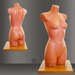 LUCCESI Damen Schneiderpuppe / Torso mit Arm- und Beinansatz / Größe M / Farbton haut