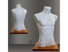 LUCCESI - Schaufensterpuppe Torso (PE) Herren Büste Größe/Size L (50-52) #53 / Farbton weiss