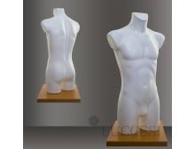 LUCCESI Herren Schaufensterpuppe Büste Torso Größe/Size L (Large/50-52) mit Arm- und Beinansatz / Material: EPS-Hartschaum / Farbton weiss