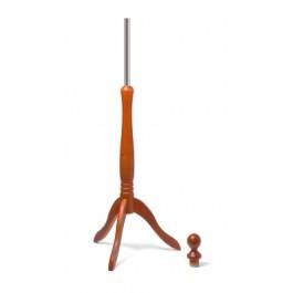 Standfuss: Holz-Dreibein und Halsabschluss (Holz-Knauf) im Farbton calvados