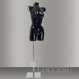 Schaufensterpuppe / Torso Gr. 38 / 40 mit Arm- und Beinansatz, Farbe: schwarz