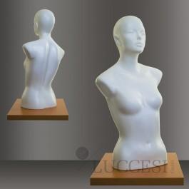 LUCCESI - Schaufensterpuppe Damen Torso mit Kopf (PE oder EPS) Büste Größe/Size M (34-36) Design #64